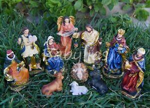 Fotos Del Nacimiento De Navidad.Details About Nacimiento Navidad Manger Scene Stable Creche Pesebre Nativity Scene 11 Pieces
