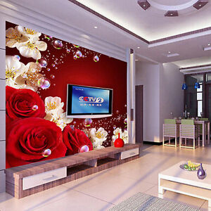 Delightful Image Is Loading 3D Wallpaper Bedroom Mural Modern Living Room TV