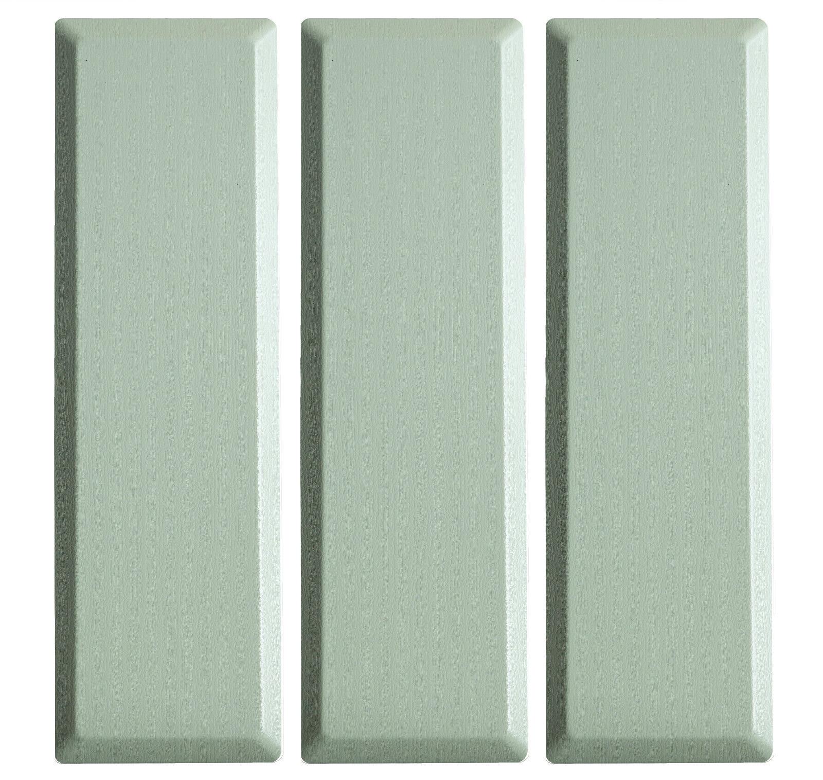 62x WERZALIT Zaunprofile Terrassenumrandung Balkonprofile Smaragd grün Zaun Holz
