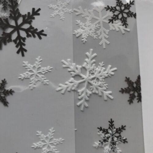 10 X Noël Flocons De Neige Design Festive Violoncelle Traiter Loot Sacs Cadeau Gâteau De Noël