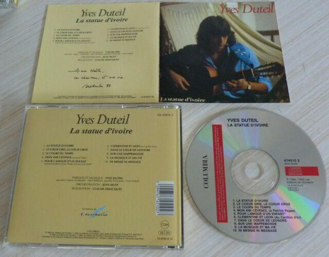 CD ALBUM LA STATUE D'IVOIRE DUTEIL YVES 10 TITRES 1983