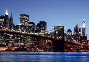 BROOKLYN-BRIDGE-NEW-YORK-Photo-Wallpaper-Wall-Mural-MANHATTAN-360x254cm-HUGE