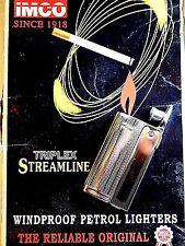 1950/60s' Vintage IMCO Triplex Streamline 6800 oil lighter-Unused/minty
