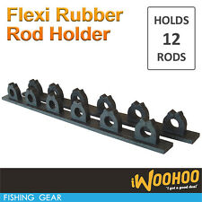 Rubber Fishing Rod Rack Pool Cue Holder 12 Items Fish Gear Storage Organiser