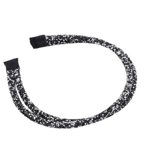 Double Row Beautiful Doubled Embellished Headband Hairband Alice Band LA