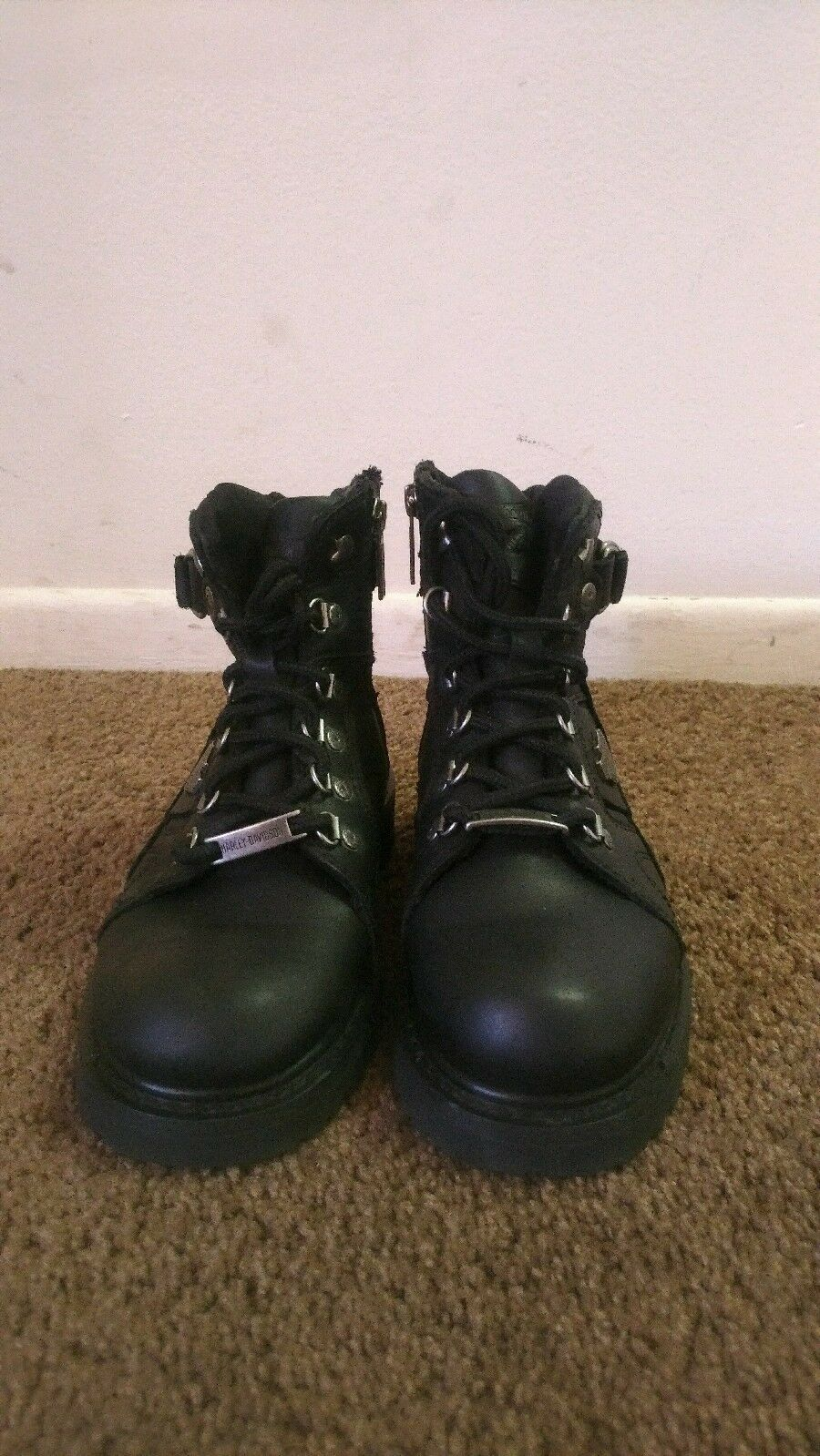 Womens harley davidson leather boots size 6