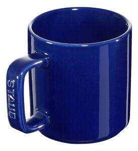 Staub-Ceramica-Kit-de-4-Taza-de-Cafe-Taza-Recipiente-para-Beber-Azul-Oscuro-8cm
