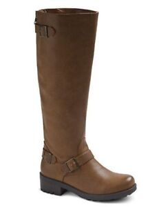 New-Womens-Mossimo-Kayce-Riding-Boots-Style-096151846-Cognac-pr