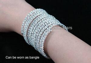 Twist-Curl-Bridal-Crystal-Stretch-Wide-Bangle-Bracelet-Upper-Armlet-A017