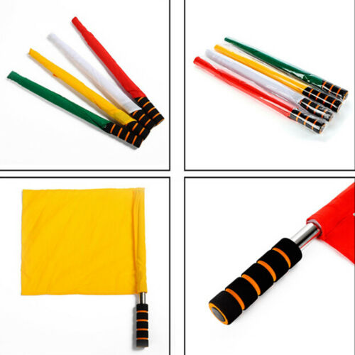 2018 Soccer Referee Flag Play Match Football Linesman Competition Equipment new.