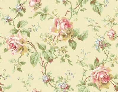 Dollhouse Miniature  Pink Roses  Wallpaper