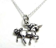 Sterling silver Unicorn necklace 18 inch chain 925 jewellery solid 3D pendant