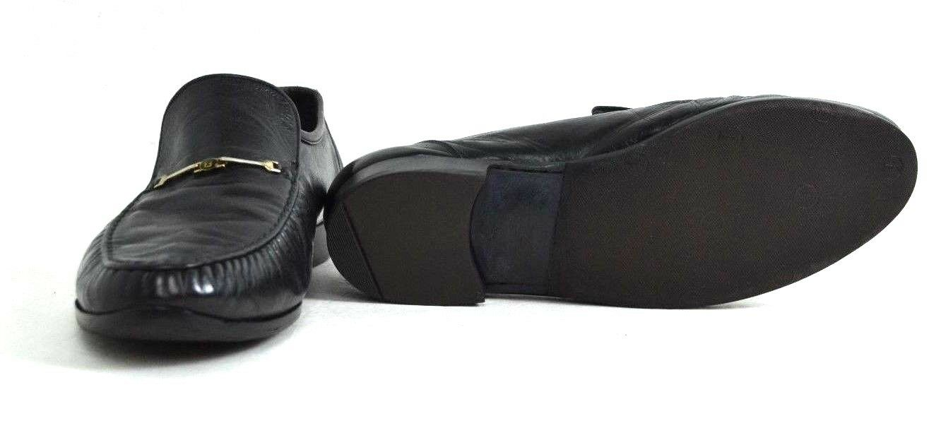 AUTHENTIC FENDI BLACK GENUINE LEATHER LEATHER LEATHER SHOES SIZE 8 EXCELLENT CONDITION 5b760a