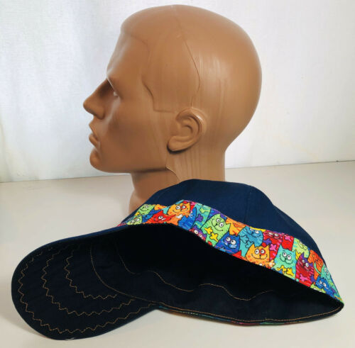 Reversible 100/% Cotton Welding Cap Banded Cats Caps made in USA S-14