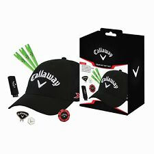 CALLAWAY GOLF GIFT SET INC GOLF CAP METAL CAP CLIP & BALL MARKER TEES 2IN1 BRUSH