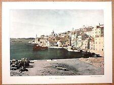 Le port de Sebenico - Šibenik en Croatie - Photochromie fin 19ème  gravure