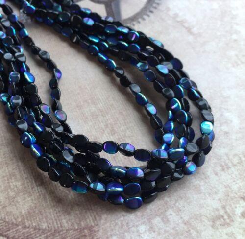 5mm filamento de 50 Cuentas de Perlas de pellizco cuentas de cristal checo Pohanka koralky