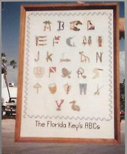 The-Florida-Key-039-s-ABCs-Charted-Design-for-Counted-Cross-Stitch-1989-Erin-Clark