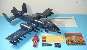 Complete-1984-GI-Joe-Cobra-Rattler-Ground-Attack-Jet-Wild-Weasel-Blueprints-Lot
