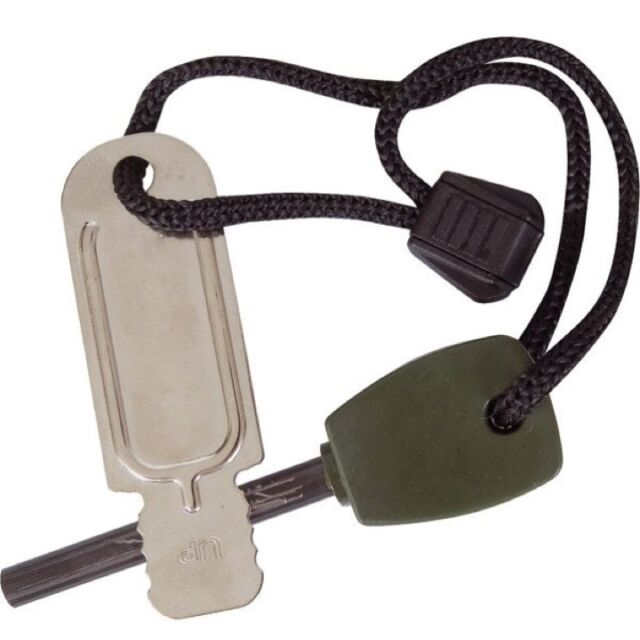 LARGE MILITARY FIRE STARTER 4000 STRIKES FLINT FIRE LIGHTER ARMY SAS SURVIVAL