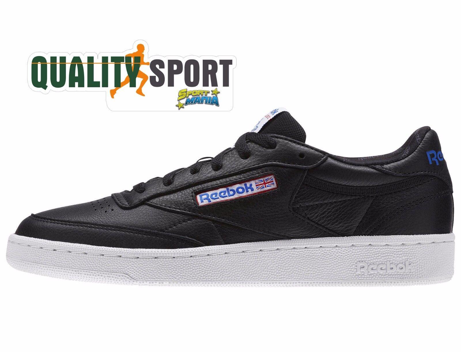 Reebok Club C 85 Nero Uomo Scarpe Shoes Sportive  BS5213