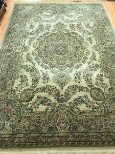 8-039-x-11-039-Karastan-Medallion-Design-Oriental-Rug-100-Wool-Made-in-USA