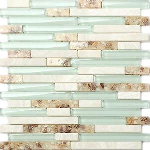 Image Is Loading Gl Beach Style Shell Tile Sea Green Interlocking