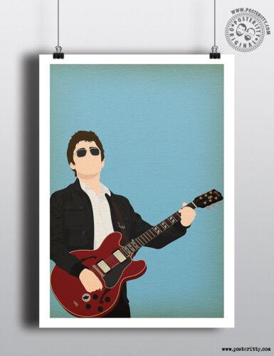 NOEL GALLAGHER Minimalist Music Poster Posteritty Minimal Print Guitar Oasis