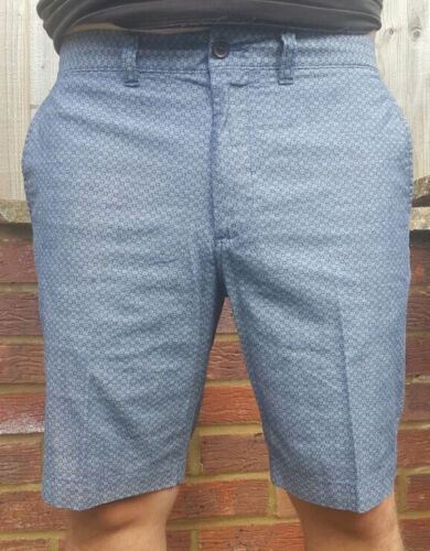RRP £25 BNWT MENS M/&S COLLECTION PURE COTTON TAILORED FIT CHAMBRAY SMART SHORTS