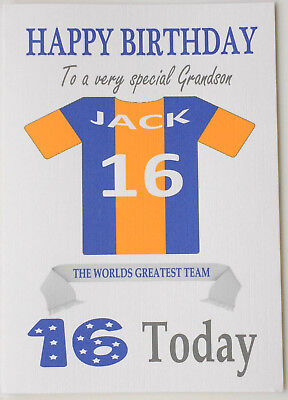 "/""Bristol Rovers Style/"" Personalised UNOFFICIAL Football Birthday card"