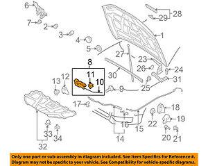 audi oem 10 17 q5 anti theft hood ajar warning switch 8k0823509g ebay rh ebay com Audi Parts Diagram 2001 Audi A4 Engine Diagram