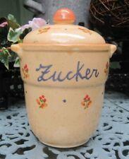 alte Vorrats Dose Behälter Gefäß Deckel Tee ,Keramik Und