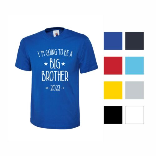 BOYS T SHIRT I/'M GOING TO BE A BIG BROTHER 2021 2022 PREGNANCY ANNOUNCEMENT KIDS