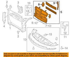 image is loading ford-oem-13-18-taurus-radiator-grille-shutter-