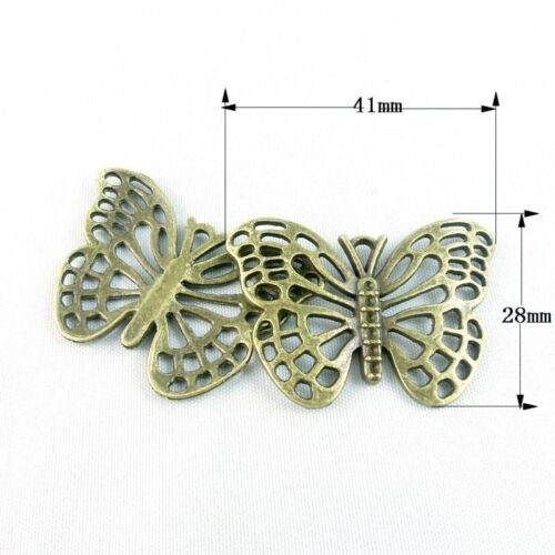 10pcs Atqued Style Bronze Alloy Hollow Butterfly Connector Finding 50mm 38765