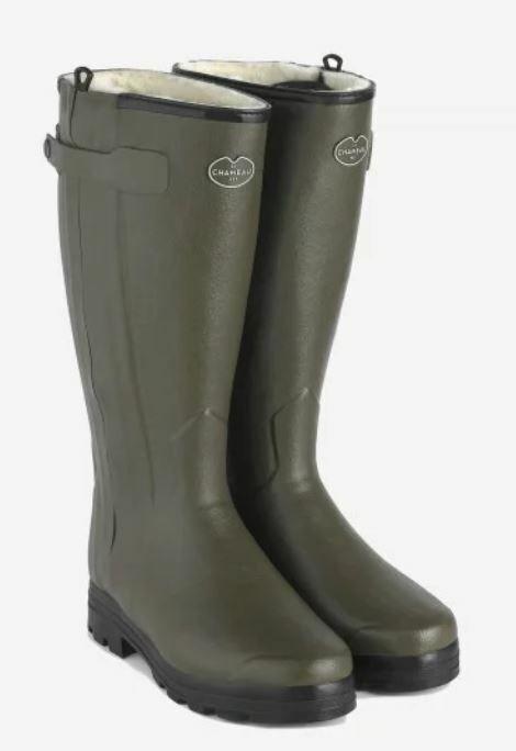Le Chameau Casseaur Wool Lined Men's Wellington Boots (Hunting Outdoors)