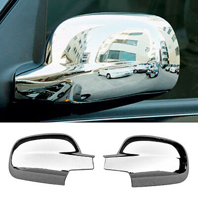 Chrome Side Mirror Cover for SSANGYONG 2001 - 04 05 06 07 08 09 10 11 12 Rexton