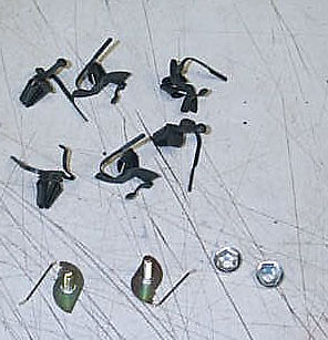 NEW 1972 Chevy /& GMC Truck Upper Tail Gate Molding Clips
