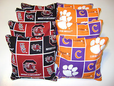 Fantastic 8 Cornhole Bean Bags Corn Hole Baggo Clemson Tigers Usc South Carolina Gamecocks Ebay Gamerscity Chair Design For Home Gamerscityorg