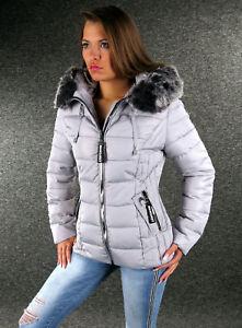 Details Fellkapuze 1028 Xxl L Zu Winterjacke Grau S Jacke Steppjacke Damen Zazou M Xl dEQCWrxeBo