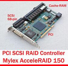 MYLEX AcceleRAID 150 SCSI PCI RAID CONTROLLER RAID 5 0 + 1 3 5 10 30 50 SCSI UW