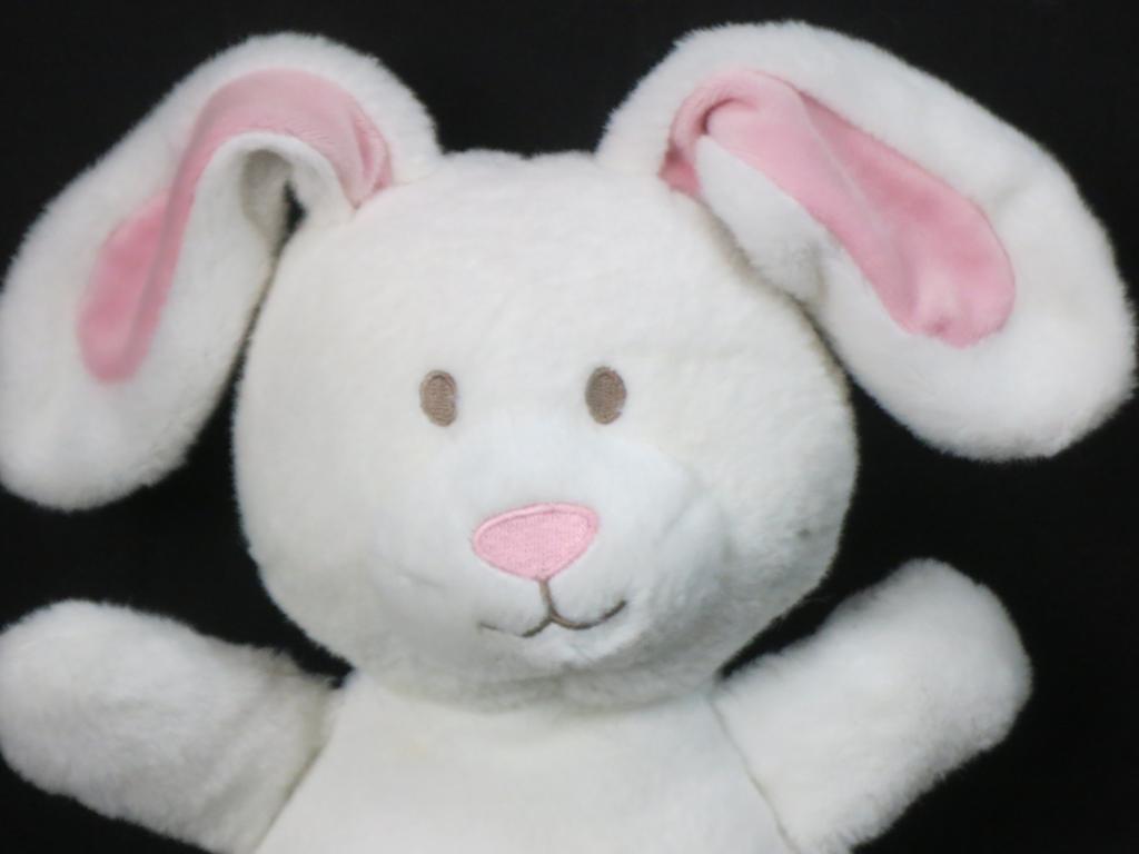 ADORABLE SOFT Weiß Rosa NOSE EARS KOALA BABY EASTER BUNNY RABBIT PLUSH 11