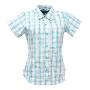 Regatta-Jenna-Womens-Short-Sleeve-Cool-Cotton-Casual-Summer-Shirt-Blue-Size-10