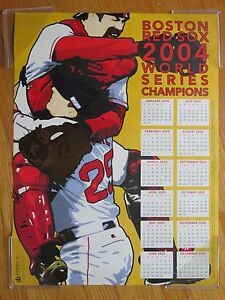 World Champions 2005 Boston Red Sox Calendar Poster Jason Varitek