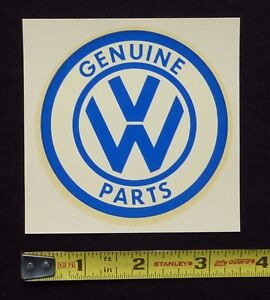 Details about Genuine VW Parts Water Slide Decal Sticker~Original 60's  Vintage~Volkswagen Bug