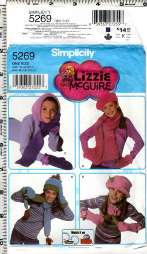 CHOICE Accessory Hat Poncho Gloves Mittens Scarf Craft Sewing Patterns
