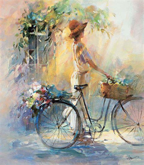Willem haenraets  GO PER A A A Ride barella-immagine Schermo bicicletta Ragazza cc1d69