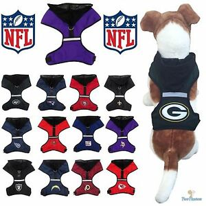 NFL Fan Gear Dog Harness with Hood for Pets Dogs Puppy - PICK YOUR ... 55d176ef0