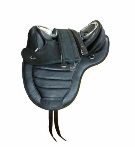 New treeless synthetic saddle black matching Girth all size
