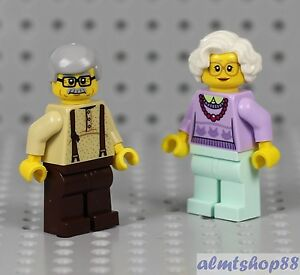 NEW LEGO GRANDMA /& GRANDPA MINIFIGS minifigures grandparents city figure lot